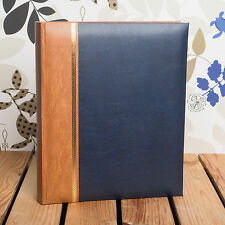 CLASSIC A4 BLUE PHOTO ALBUM - HOLDS 100 A4 PRINTS * Great for Portfolios *
