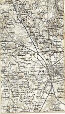 Bourg-en-Bresse Viriat Attignat 1889 carte état-major sur toile orig. Péronnas