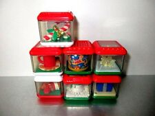 Fisher Price Peek a Blocks Lot of 7 Holiday Christmas  #F22