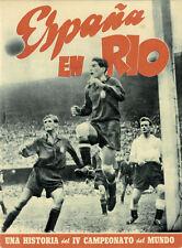World Cup Fußball Weltmeisterschaft 1950 Spanischer Bericht Report FIFA Brasil