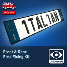 Italian Style Embossed Aluminium Number Reg PRESSED Plates for FIAT Ferrari 30