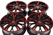 17 red Wheels HHR Malibu Cobalt SS Cmax Chrysler 200 Escape MKZ 5x108 5x110 Rims