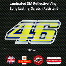 Valentino Rossi 46 New Version Laminated 3M Reflective Decals Sticker 100mm F236