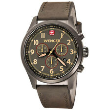 Wenger Swiss Army  0543.1043 Mens Terragraph chronograph PVD Dial Watch chrono