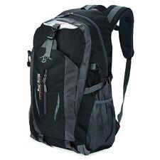 Hombre Mujer Lock Mochila Bolsa Bolso de Hombro Satchel Hiking Backpack Negro