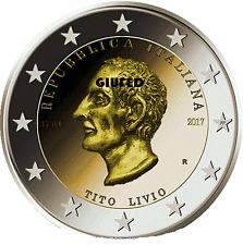 2 € 2017 ITALIA ITALY ITALIEN ITALIE ИТАЛИЯ 2000º ANNIVERSARIO MORTE TITO LIVIO