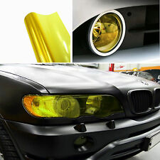 "Fog Tail Headlight DRL Cover Film Yellow Decorative Vinyl Wrap 12""*40"" For BMW"