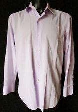 SARTORIA PARTENOPEA Napoli CAMICIA Shirt TG.16,5/42 in fine cotone Colore lilla
