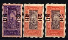 DAHOMEY - 1922-25 - Francobolli del 1913 soprastampati