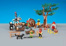 PLAYMOBIL 6464 KNIGHTS ROBBERS FEAST TREE FAIRY MUSIC BARREL MONK PARTY NEW