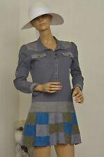 Robe grise et bleu CUSTO BARCELONA  taille 38 ref  111624