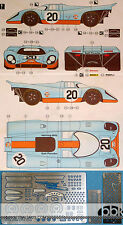 1/24 DECAL + PE DETAIL PORSCHE 917K GULF #20 #00 1970 LE MANS for FUJIMI