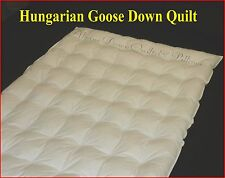 QUEEN SIZE HUNGARIAN GOOSE DOWN QUILT DUVET 4 BLANKET WARMTH 100% COTTON COVER