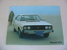 Renault 15TL & 17 Gordini Brochure -Near Mint
