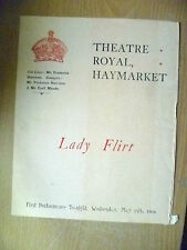 1904 Theatre Royal Programme- C Maude in LADY FLIRT & THE WIDOW WOOS