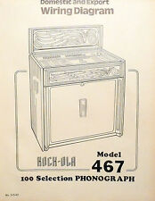 ROCK-OLA MODEL 467  Domestic & Export FOLD-OUT WIRING DIAGRAM