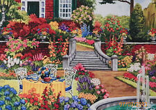 .PUZZLE.....JIGSAW....WERNERSBACH.....Tea In The Garden....750pc