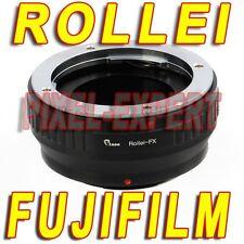 ANELLO ADATTATORE ROLLEI SL35 FUJI FOTOCAMERA X-PRO1 X-E2 X-T1 X-E1 OBIETTIVO