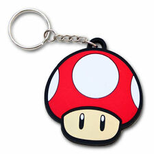 Nintendo Super Mario Bros. Red Mushroom PVC Keychain Official Licensed Product