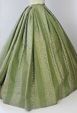 Antique Victorian Mid 19th Century 1850 Brocade Skirt