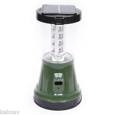 LED Solar Powered Light (Black/Green)