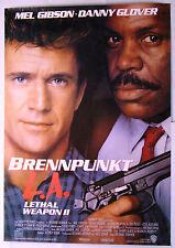 LETHAL WEAPON 2 - Brennpunkt L.A. - Mel Gibson -  Filmplakat DIN A0 (gerollt)