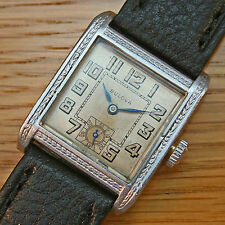 1929 Vintage BULOVA 'BREWSTER' Gents Swiss Gold Filled Art Deco Watch – SERVICED