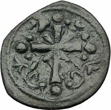 JESUS CHRIST Class I Anonymous Ancient 1078AD Byzantine Follis Coin CROSS i55442