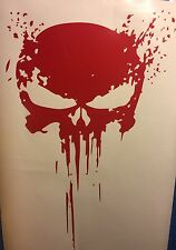 Red PUNISHER skull BLOOD vinyl decal sticker for car truck wrangler jeep