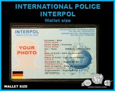 """INTERNATIONAL POLICE """"interpol""""  movie OO DIVISION COLLECTOR wallet size ID card"""