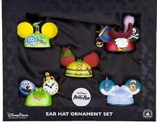 BRAND NEW Disney Parks Holiday Peter Pan Set of 5 Ear Hat Ornaments