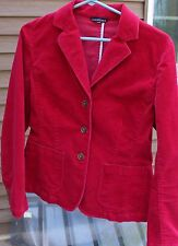 Woman's Dark Pink Corduroy Blazer by Land's End; Size:  8
