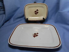 Royal Ironstone China  2 Small Platters / Trays  Alcock/Meakin  England Tea Leaf