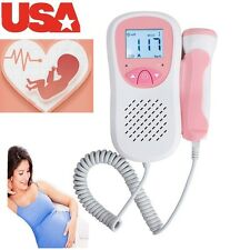 Fetus Fetal Doppler LCD Pocket Prenatal Baby Sound Monitor 3M Probe Listen Safe