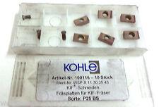 6 Plaquettes inserts X11 30 35 45 P25 BS pour KIF- Fraise de Kohle Neuf H4907