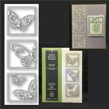 Bellina Butterfly Triptych die - Poppystamps metal dies 1534 animals,insects