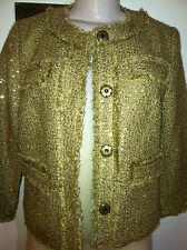 MICHAEL Michael Kors Women's Gold Flecks Jacket Size 2