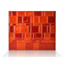 Smart Tiles SM1046-6 SELF-ADHESIVE WALL TILES 6/SHEET MOSAIK TANGO RUBY RED
