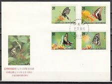 """ China-Taiwan, Scott cat. 2692-2695. Butterflies issue on a First day cover."