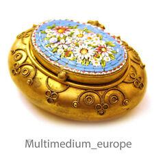 Millefiori Mikromosaik Dose aus Rom vergoldet um 1860 micromosaic