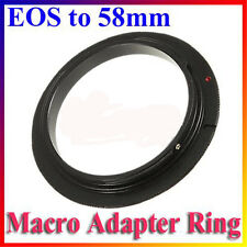 New 58mm Macro lens Reverse Adapter Ring For Canon EOS EF EF-S 1000D 60D 5D 7D