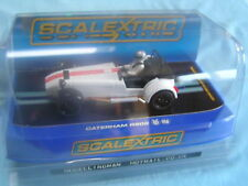 NEW SCALEXTRIC BNIB C3093 CATERHAM (LOTUS) 7 R500 WHITE + RED STRIPE
