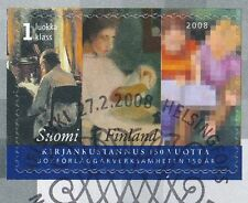 Finland 2008 Used Stamp - Book Publishing 150 Years - First Day Cancel