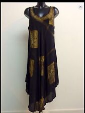 Sundress / Beach / Holiday Cover Up / Kaftan Swing dress size 26 Slimming