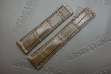 19mm Brown ALLIGATOR Skin WATCH STRAP Deployment BAND for TAG HEUER CARRERA