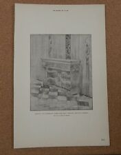 Antique Architects Print.Credence Table Holy Trinity Chelsea. The Builder 1891