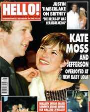 HELLO MAGAZINE #735 KATE MOSS & JEFFERSON, JUSTIN TIMBERLAKE, ELIZABETH TAYLOR