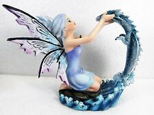 Fairy of Water with Dragon Mythical Fantasy Decor Figurine