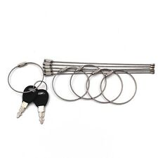 10PCS Stainless Steel Wire Keychain Cable Ring Cable for Outdoor Camping Hiking