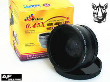 Z14u 58mm 0.45X HD Wide Angle Lens Macro for Canon VIXIA HF G10 XA10 XF105 XF100